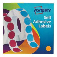 Avery Labels on Roll 19mm Orange 24-608 (Pack 1)