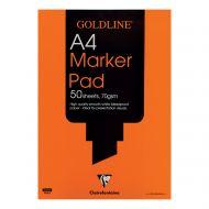 Goldline A4 Bleedproof Mrker Pad GPB1A4Z (Pack 5)