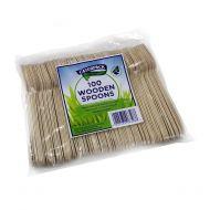 Natural birchwood Spoons Pk100 10569 (Pack 1)