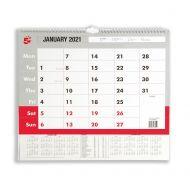 5 Star 2021 A3 Wall Calendar (Pack 1)