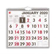 5 Star 2020 Wall Calendar W/Bound MTV (Pack 1)