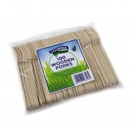 Natural birchwood Forks Pk100 10568 (Pack 1)