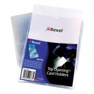 Rexel Card Holder O/S/Edge A4 12092 Pk25 (Pack 1)