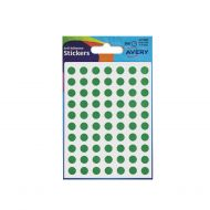 Avery Labels Packet560 Dia8mm Grn 32-302 (Pack 10)