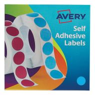 Avery Labels on Roll 19mm Blue 24-509  (Pack 1)