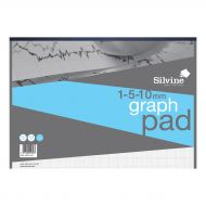 Silvine A3 Graph Pad 1/5/10mm 90gsm (Pack 1)