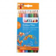 Lakeland Colour Thin Pencils Astd Pk12   (Pack 1)