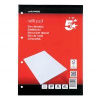 5 Star FSC A4 Refill Pad Hardbound (Pack 10)