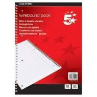 Notebook Wirebound 70gsm Ruled and Margin Perforated Punched 4 Holes 100pp A4 Red [Pack 10]
