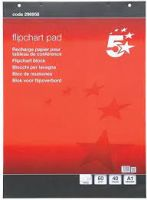 Office Flipchart Pad Perforated 40 Sheets A1 [Pack 5]