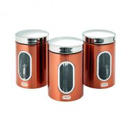 Addis Copper Finish Canisters Pk3