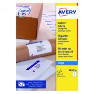 Avery Inkjet Address Labels 4 Sheet P100