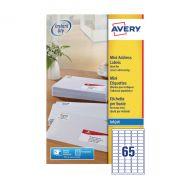Avery Inkjet Mini Labels Wht Pk1625