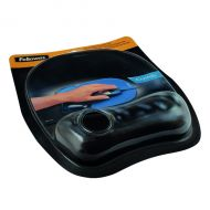 Fellowes Crystal Black Mouse Pad/Rest