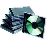 Q-Connect CD Jewel Case Black/Clear Pk10